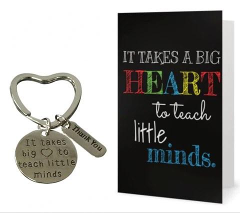 teach love inspire keychain