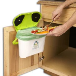 Kitchen Caddy Countertops Lowes Compost Canada System With Cabinet Mount
