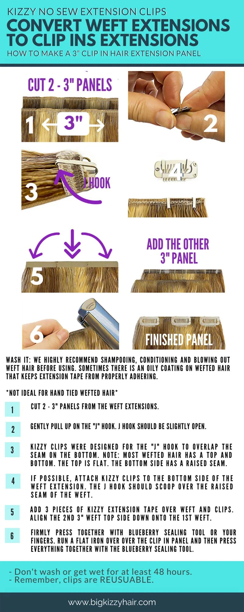 Diy Clip In Hair Extensions : extensions, Convert, Extensions, KIZZY