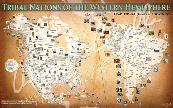 Tribal Nations of the Western Hemisphere Map – Indigenous Peoples Resources