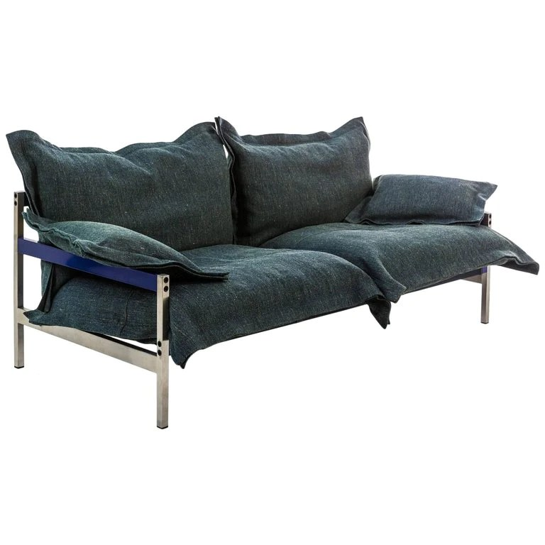 steel frame sofa room and board chelsea iron maiden three seat upholstered by moroso for next