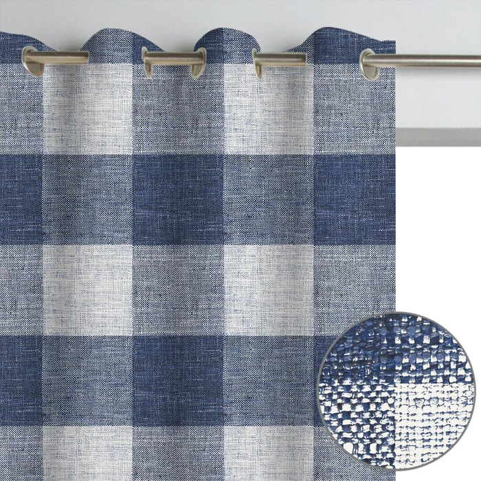 bennett checkered country buffalo plaid patterned curtain panel
