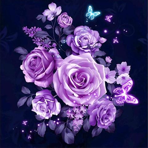 bouquet of purple rose
