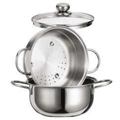 Steamer Kitchen Bath And Special Cooking Set 8 Inc With Glass Lid Healthy Idea