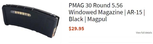 PMAG 30 Round 5.56 Windowed Magazine | AR-15 | Black | Magpul