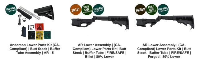 Classic Lower Parts Kit (CA-Compliant)   Butt Stock   Buffer Tube Assembly   AR-15