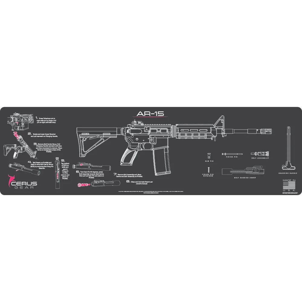 medium resolution of  biggest and best ar 15 cleaning mat with guide