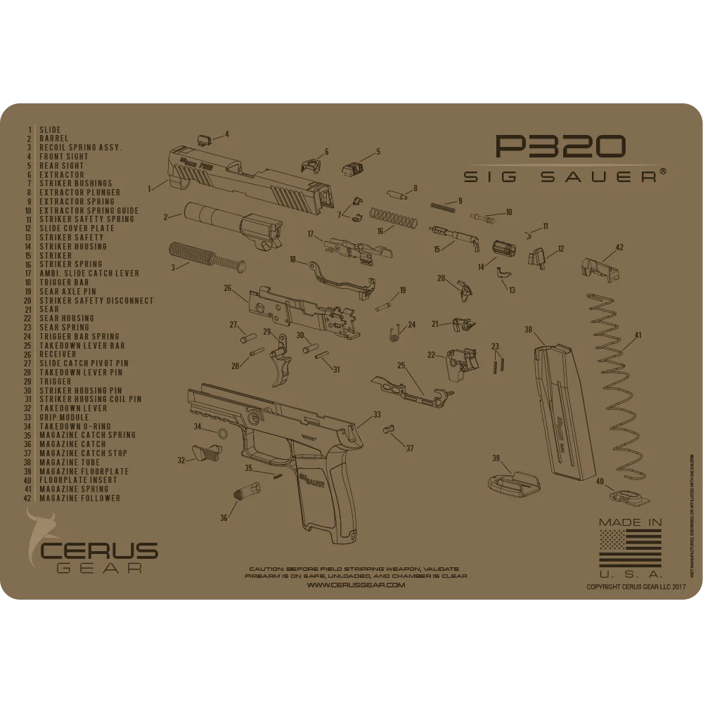 hight resolution of best looking sig p320 cleaning mat