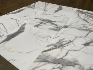 calacatta gold 18x18 polished marble field tile