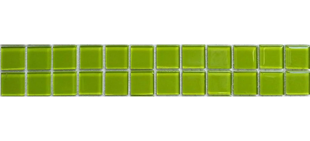 green glass mosaic tile strip mb0023