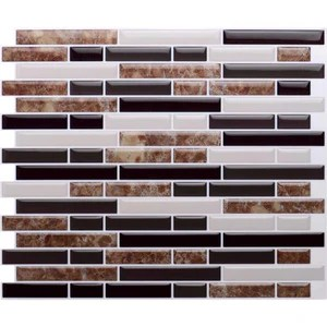 brown marble stone mosaic effect self adhesive tile transfer stickers 3d0004