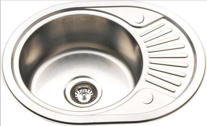 577x447mm inset reversible round stainless kitchen sink drainer rb58