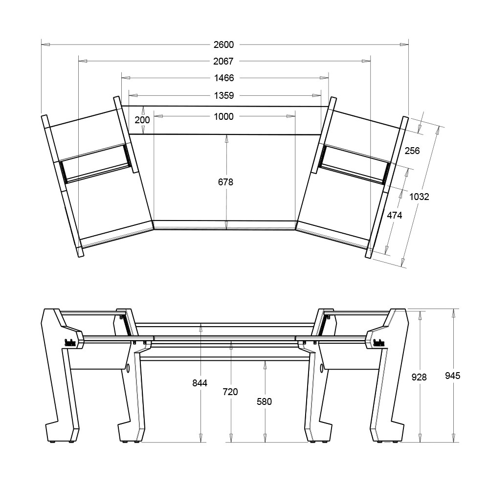 medium resolution of  pro line classic desk white