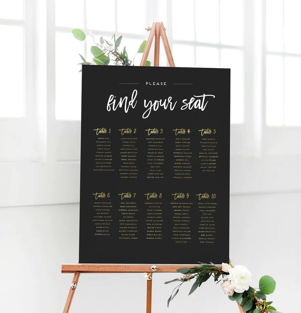 also wedding seating chart sign the penny rh missdesignberry