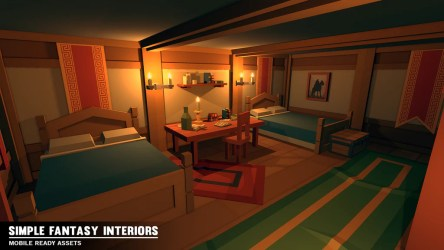 cartoon fantasy simple interiors
