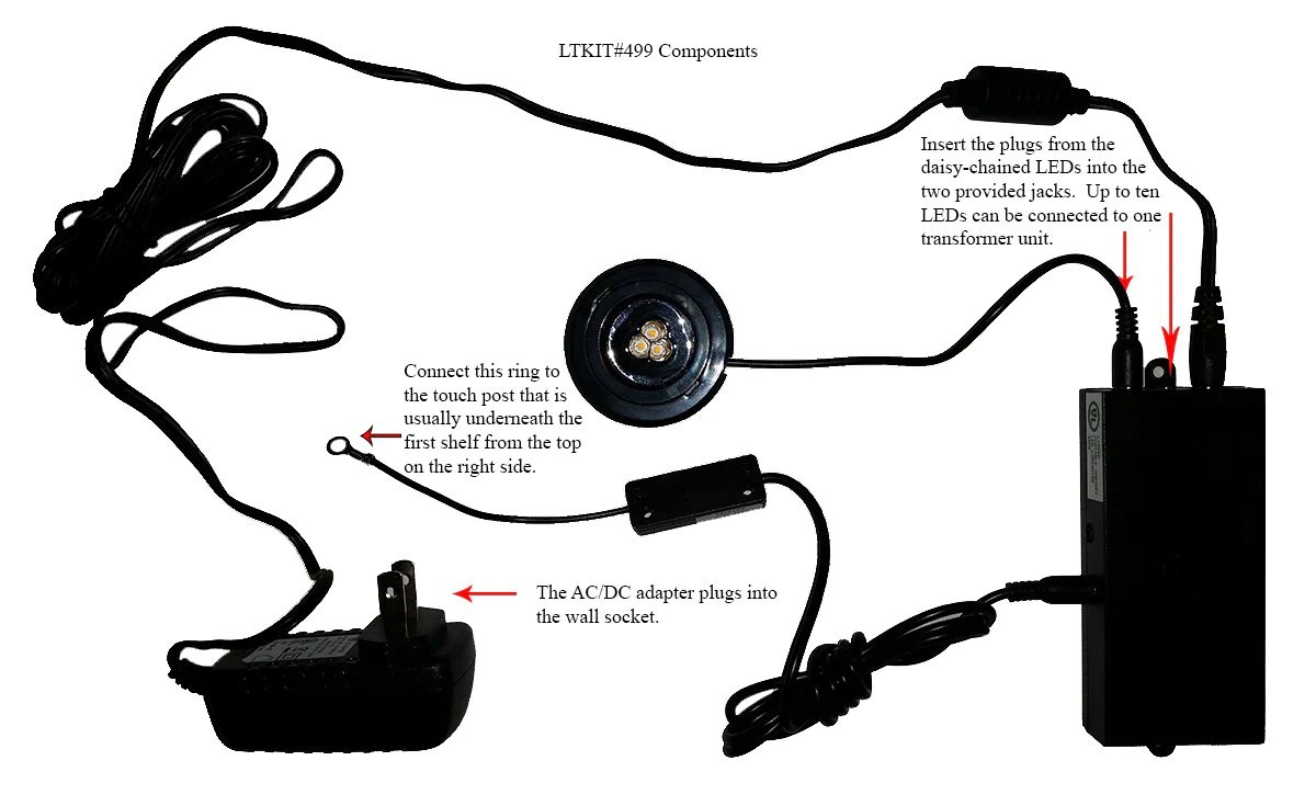 light kits led lighting kit power supply 3 way touch control and junction box  [ 1200 x 735 Pixel ]