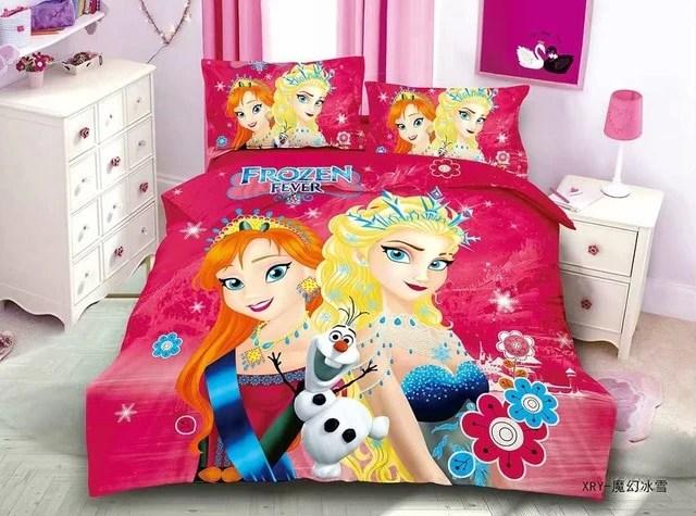 disney frozen 2 girls princess bedding set duvet cover bed sheet pillow cases