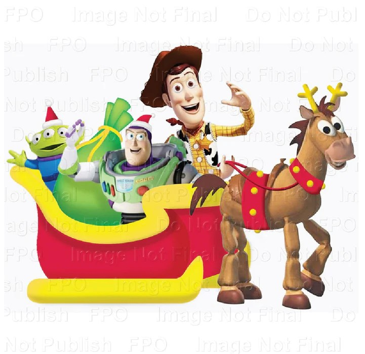 Gemmy 37598 Disney Christmas Inflatable Toy Story Sleigh