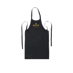 Kitchen Aprons How Much To Reface Cabinets Black Cotton Chef Apron With Maille Logo