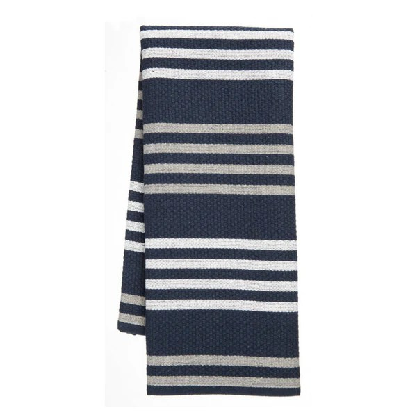 gray kitchen towels outdoor components basketweave towel 2 pack navy paderno