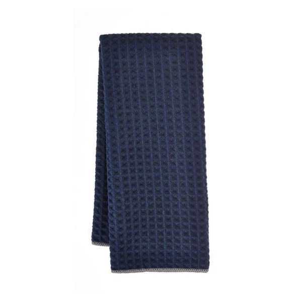 towel for kitchen valance ideas microfiber 2 pack navy paderno
