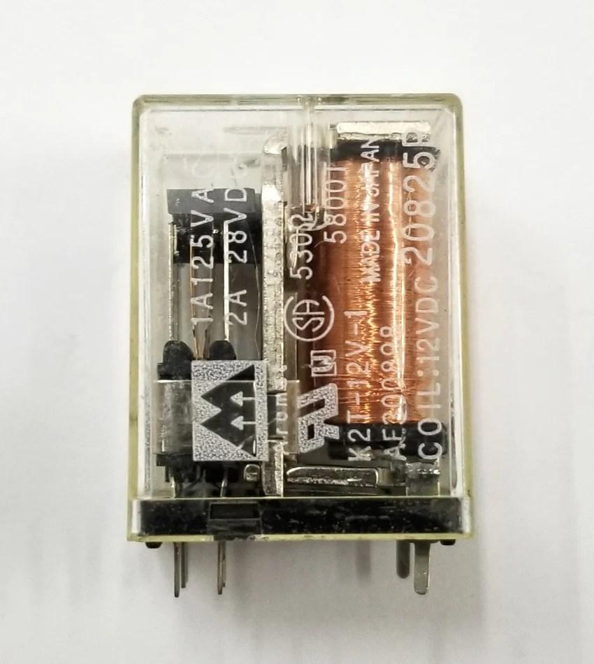 hight resolution of new aromat k2t 12v 1 dpdt 12 volt dc coil p c mount relay