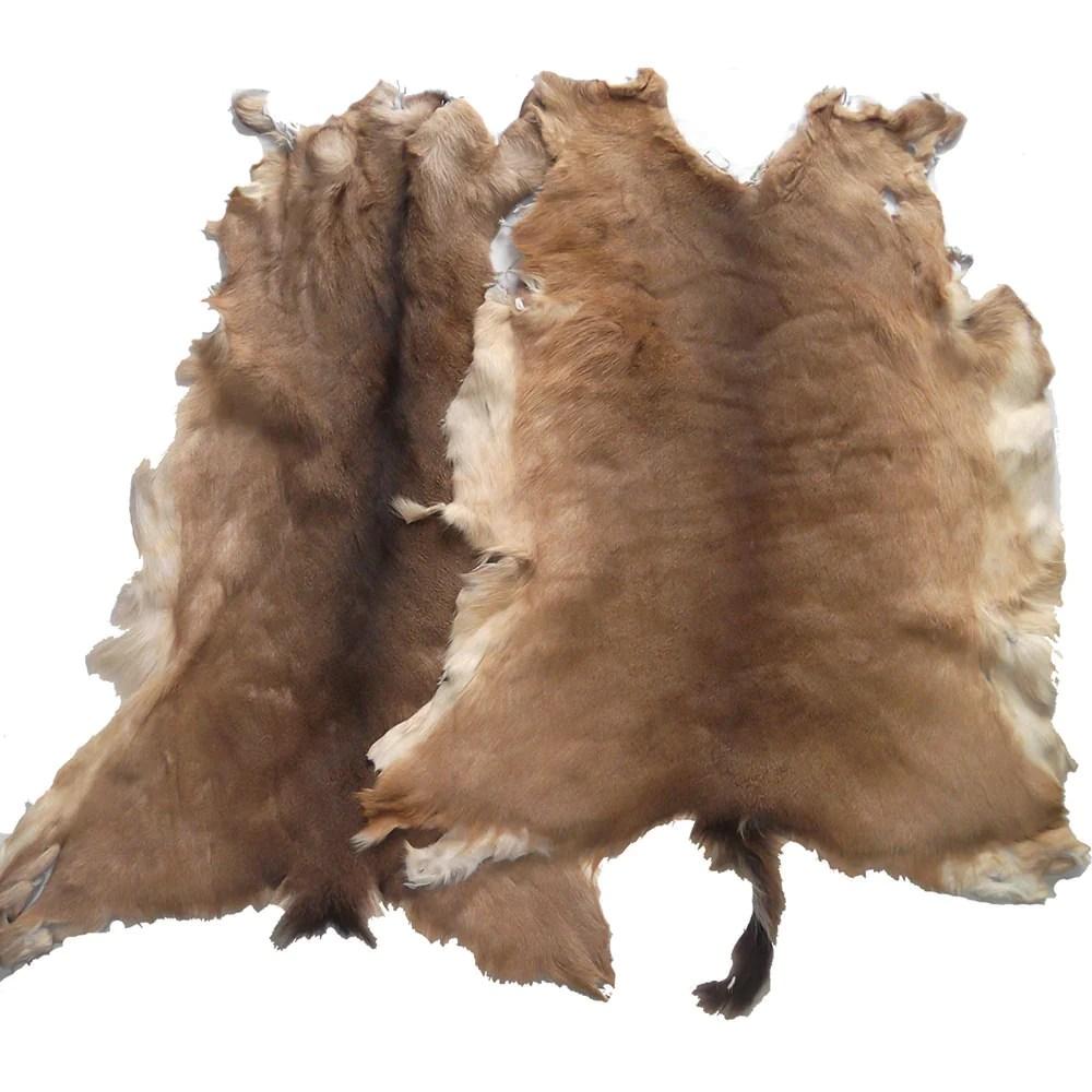 Hair Deerskin Hide Rug - Tanned Deer With