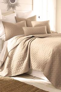 solid beige color bedding set