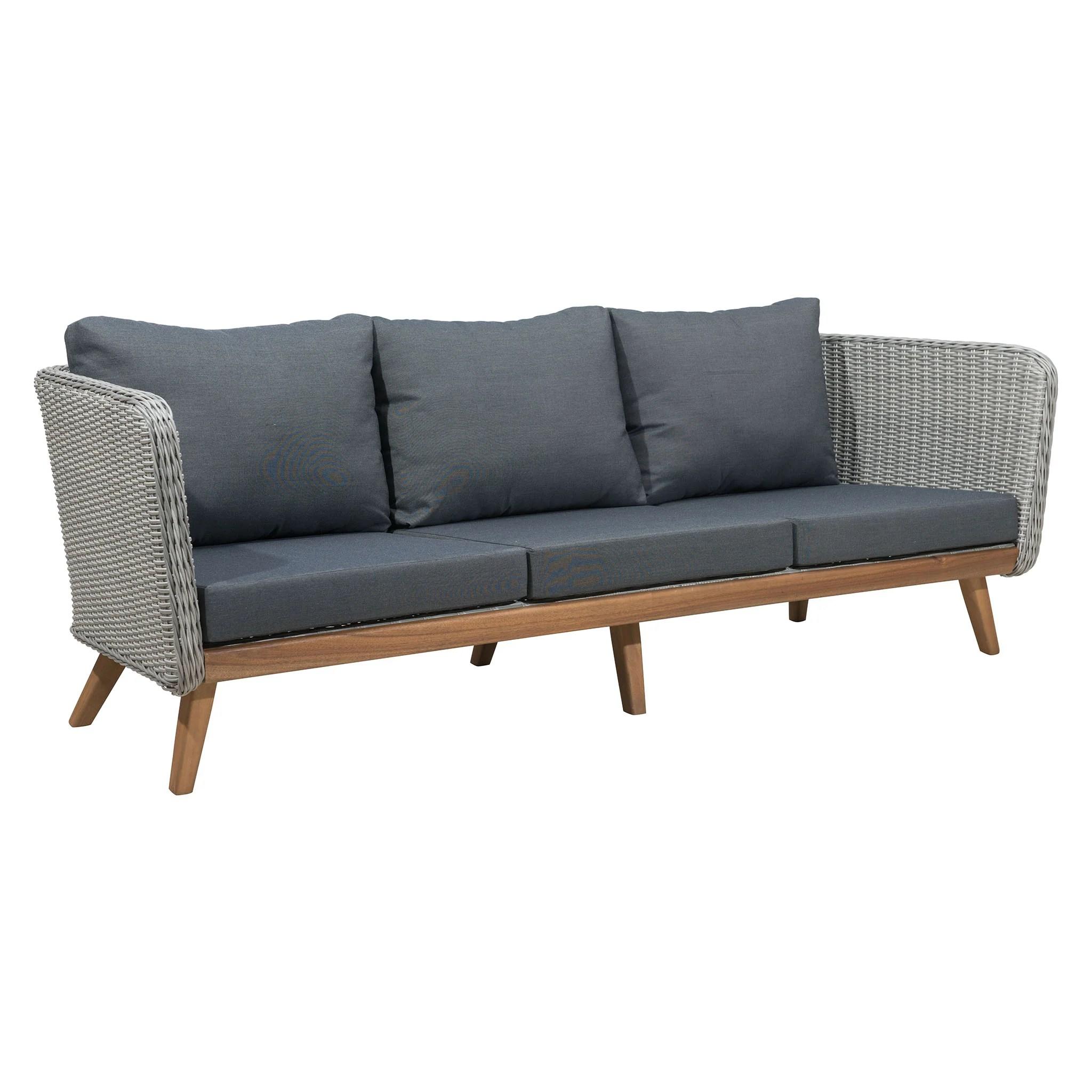 bay sofa brown leather high back grace evans lane