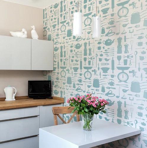 wallpaper for kitchen cherry cabinets airfix duck egg victoria eggs
