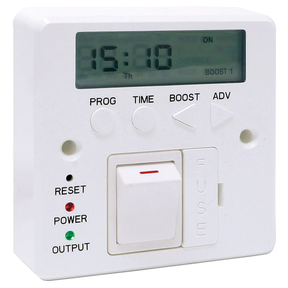 medium resolution of 7 day 3kw boost fused timer spur switch for heater immersion lighti lighthub direct