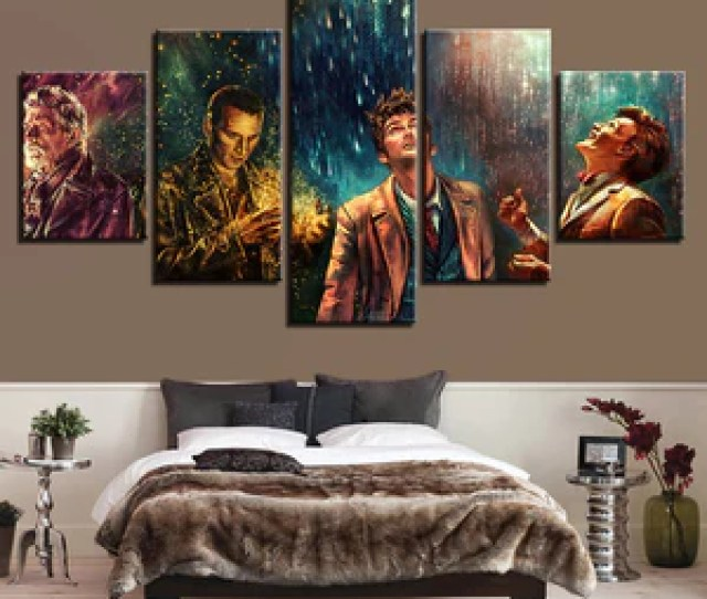 Doctor Who Modern Canvas  Panel Wall Art