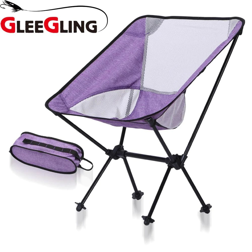 Folding Chair Backpack Gleegling Ultra Light Folding Fishing Chair Folding Chair Backpack Camping