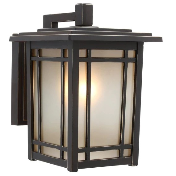 home decorators collection port oxford 1 light oil rubbed chestnut outdoor wall lantern sconce