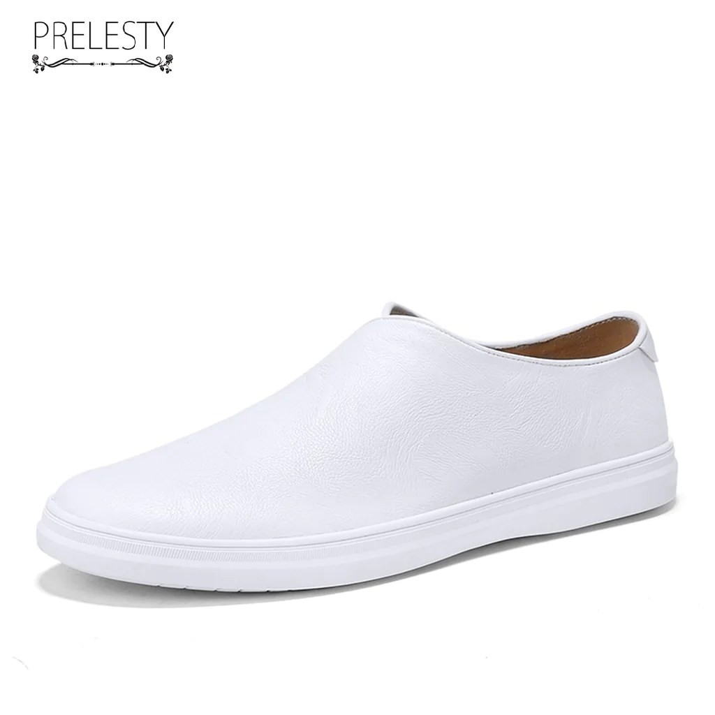 Leather Slip On Casual Shoes