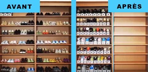 range chaussures magique lot