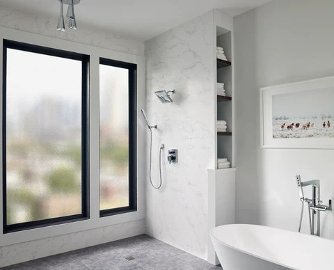 quartz shower walls advantages of
