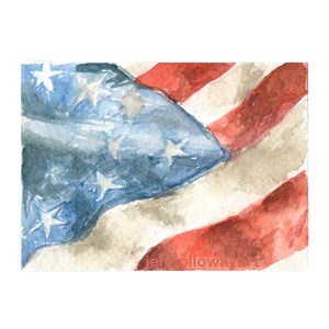watercolor flag american flag