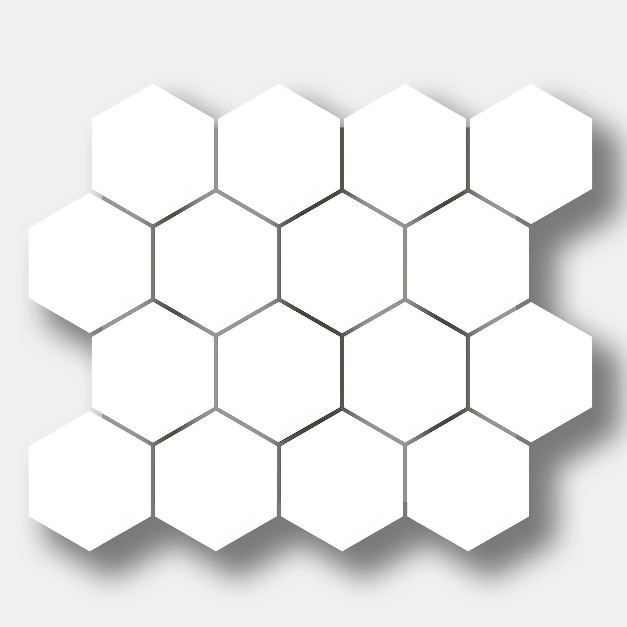 3 hexagon dolomite marble mosaic tile
