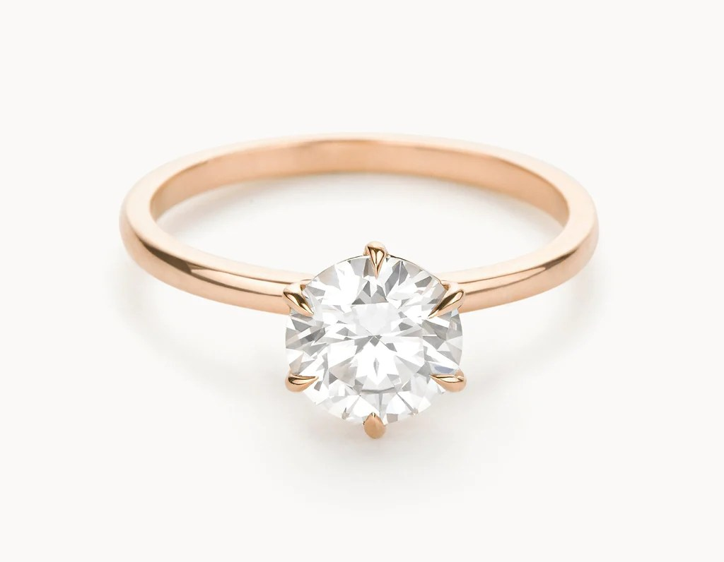 The Solitaire Engagement Ring  18k Rose Gold  Vrai  Oro