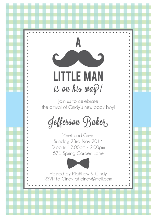 customized boy baby shower invites