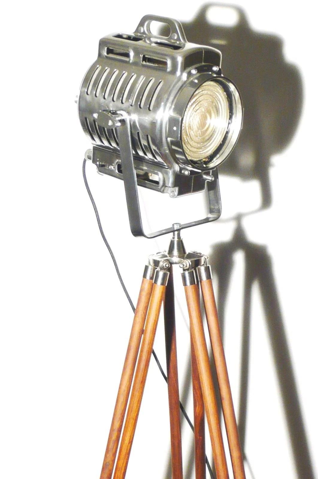 VINTAGE THEATRE SPOT LIGHT FLOOR LAMP ANTIQUE ARNOLD