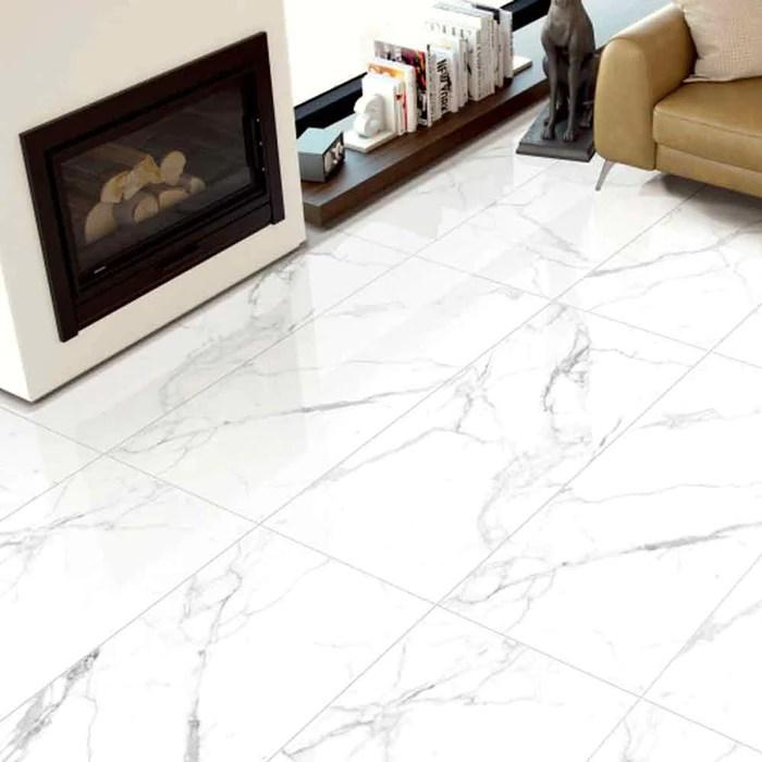 carrara premium polished porcelain tile 24 x 48