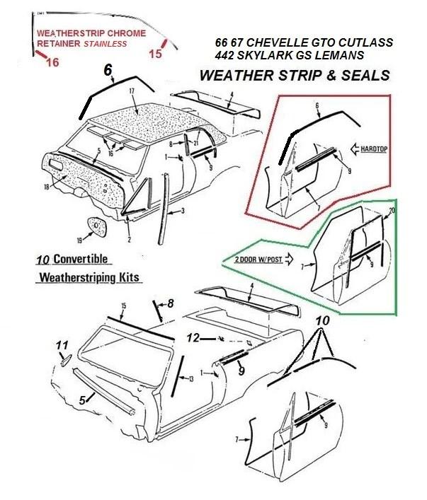 Mouldings & Trim Vintage Car & Truck Parts 66 67 Chevelle