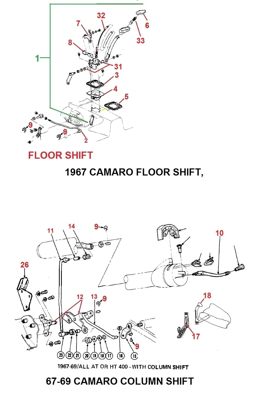 1967 camaro auto floor shifter 67 69 camaro column shift parts [ 1008 x 1572 Pixel ]