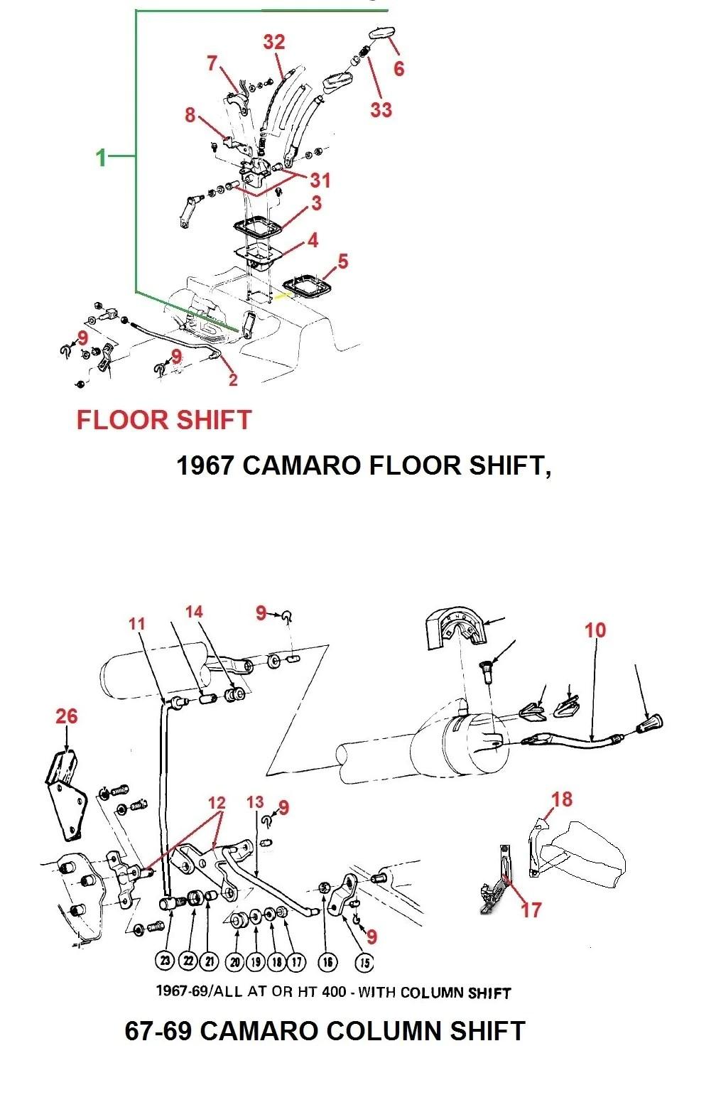 medium resolution of 1967 camaro auto floor shifter 67 69 camaro column shift parts
