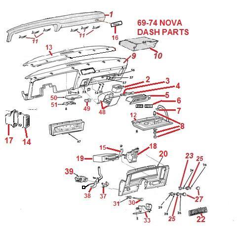 hight resolution of  door wiring diagram relay 69 72 nova dash parts chicago muscle car parts inc nova wiper