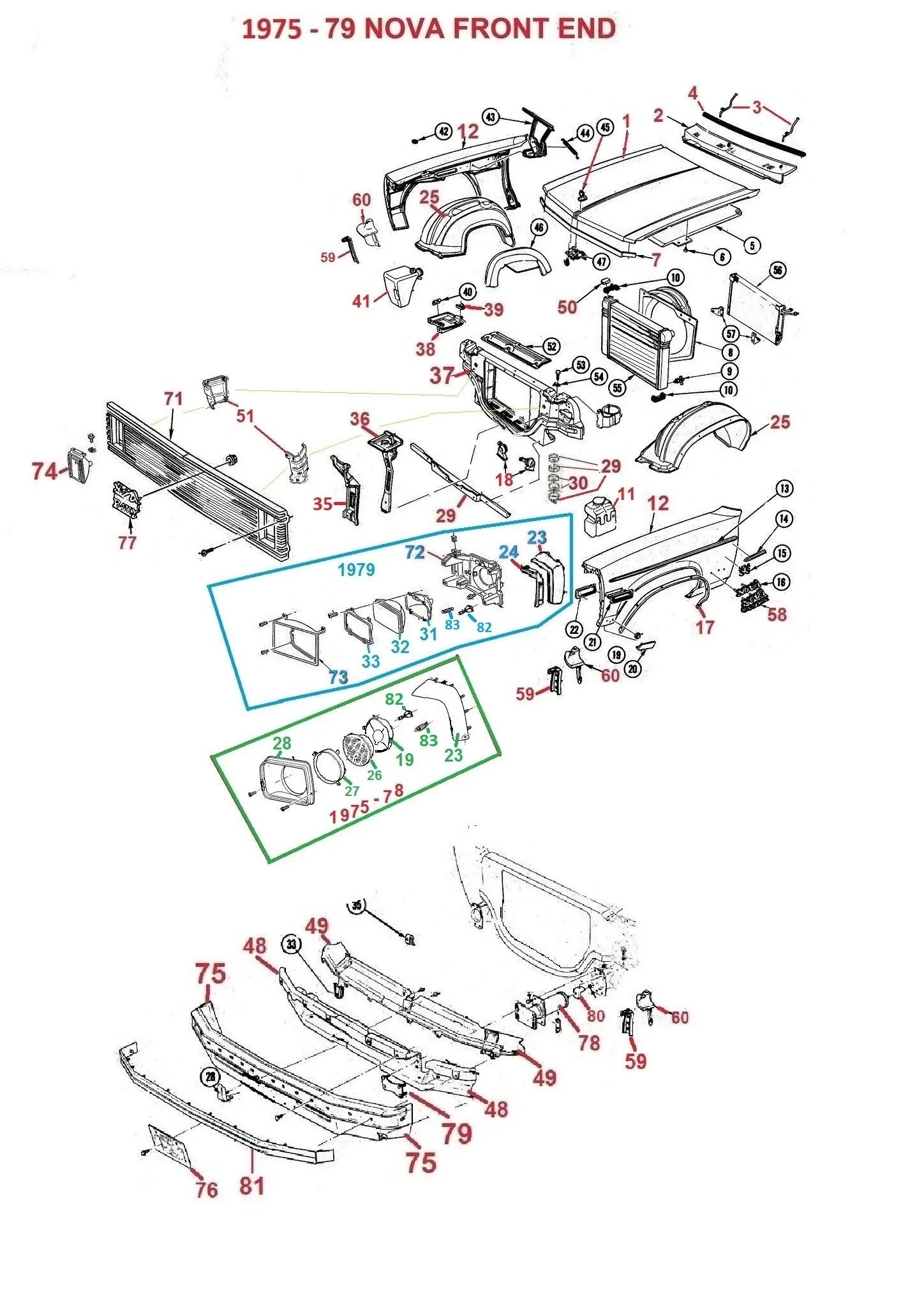 1976 nova wiring diagram 1962 75 79 nova front end parts chicago muscle car parts inc concours  [ 1448 x 2032 Pixel ]