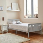 Lisa Wooden Single Bed Frame Grey Laura James