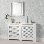 Radiator Cover White Painted Large Laura James